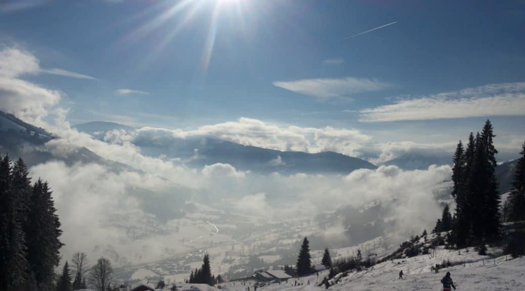Snowboarding in Ski Welt in Austria