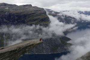 Sitting on the edge of Trolltunga