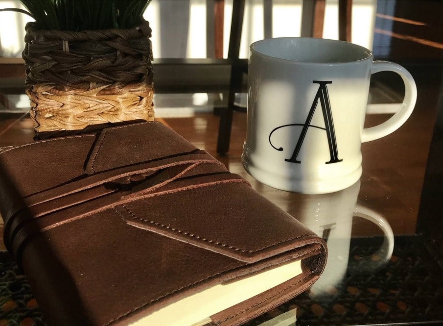 best leather journal abundance refillable journal