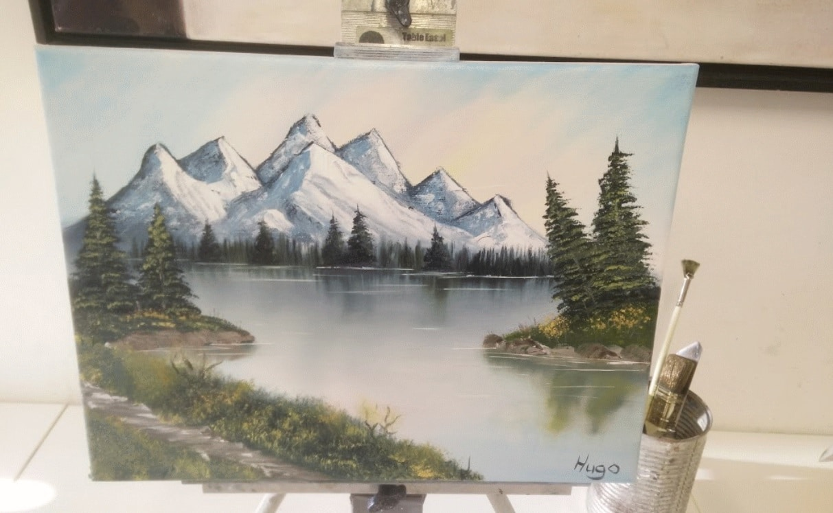 I tried something new painting bob ross workshop