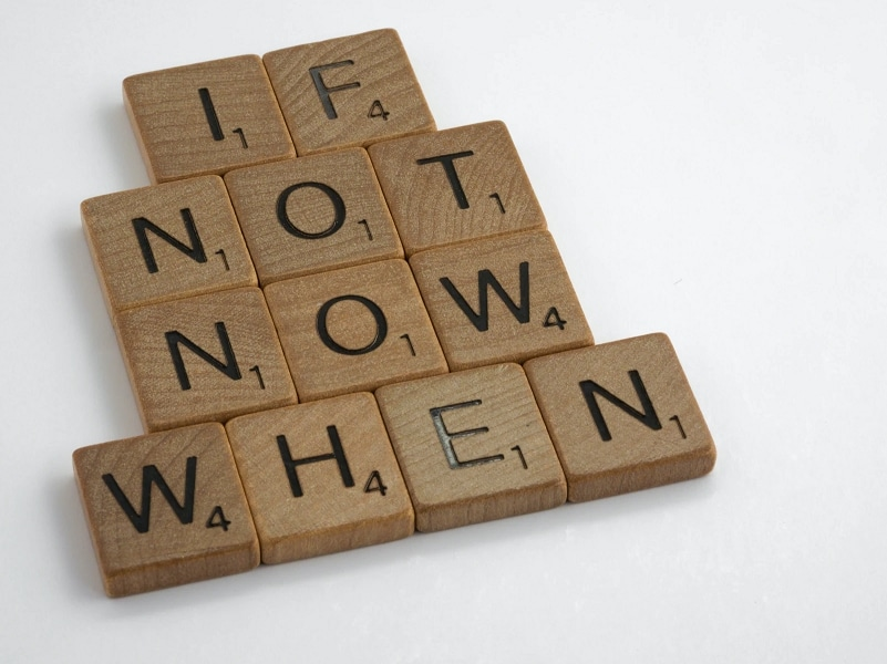 if not now when text