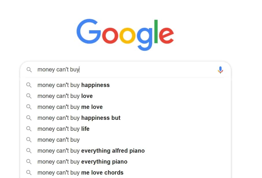 things money cant buy happiness