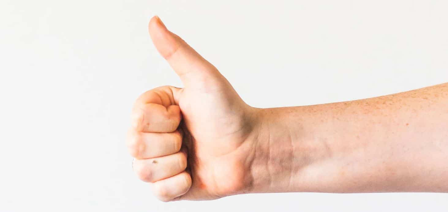 positivity thumbs up
