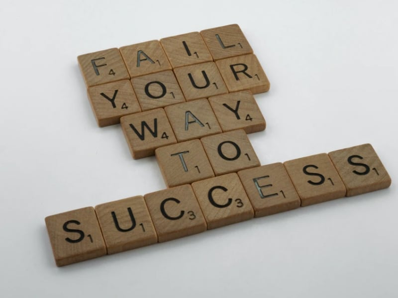 fail your way to success image