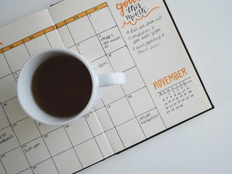 planner goals coffee