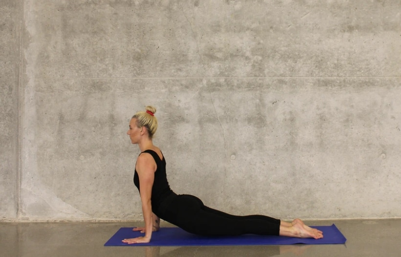 woman yoga stretch