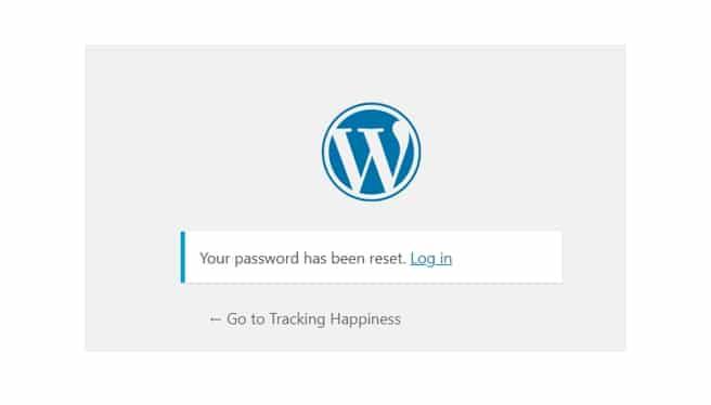 THD password reset success