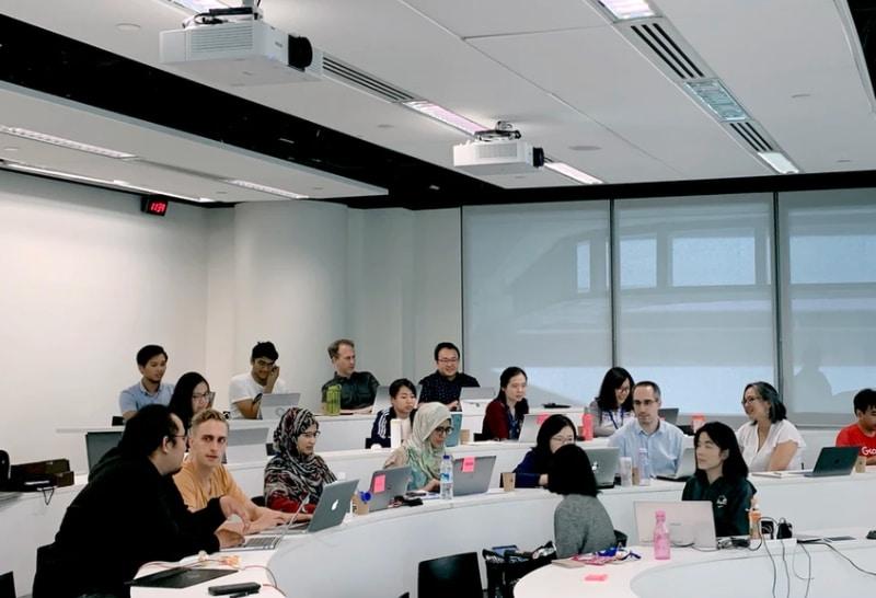 classroom of people