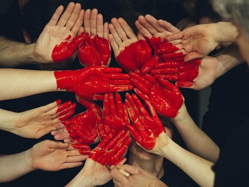hands showing heart uniform solidarity