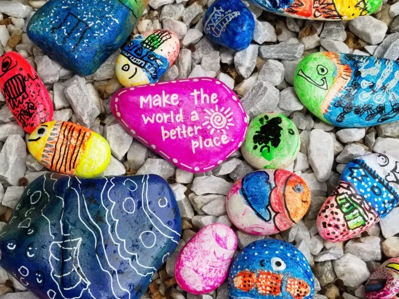 make the world a better place stone