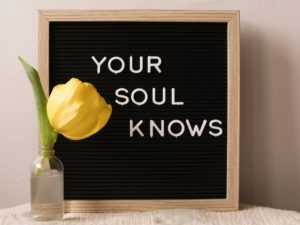 your soul knows self belief poster